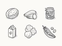 Veggie Food Icons3