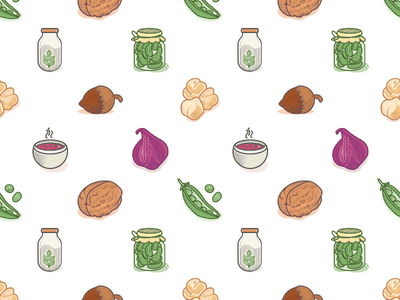 Veggies Icons Pattern icons vegan vegetarian veggies leguminous greens engraving etching illustration shellfruit iconpattern pattern