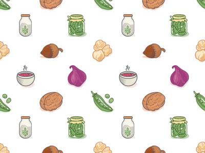 Veggies Icons Pattern