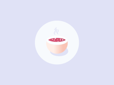 Veggie Food Icons : Hot Soup