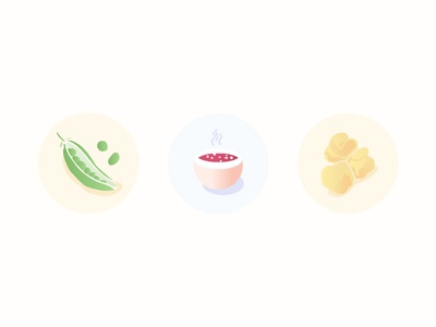 Veggie Food Icons (flat serie)
