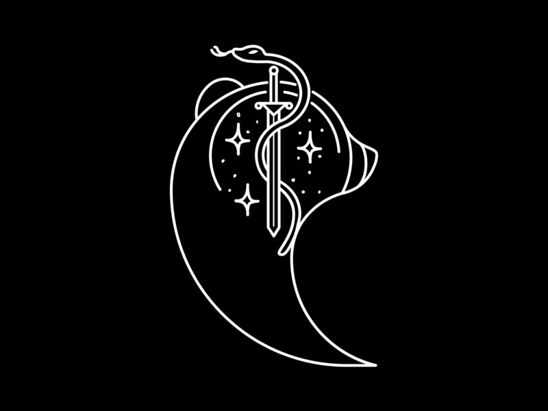 Logo Helene Nera fantasy sf cover book novel book art helenenera writer logo bookcover