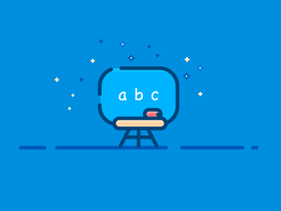 Classroom night vector outline icons illustration blackboard school backtoschool