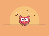 Funny Owl Halloween