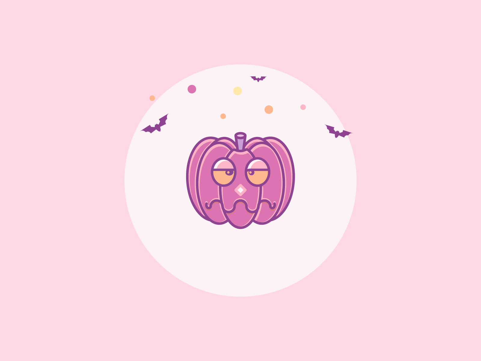 Bored Pumpkin Halloween halloween design illustration autumn pumpkin icons halloween