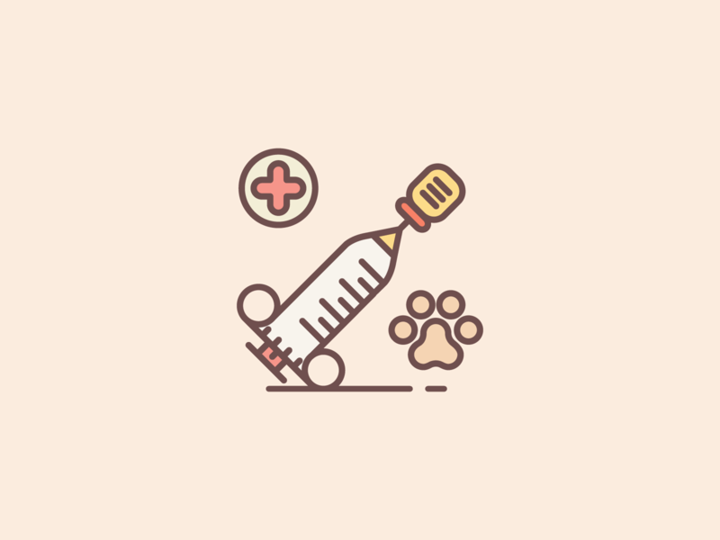 Pet Vaccination outline icon illustration icons set icons pet vaccination veterinary veterinarian vet
