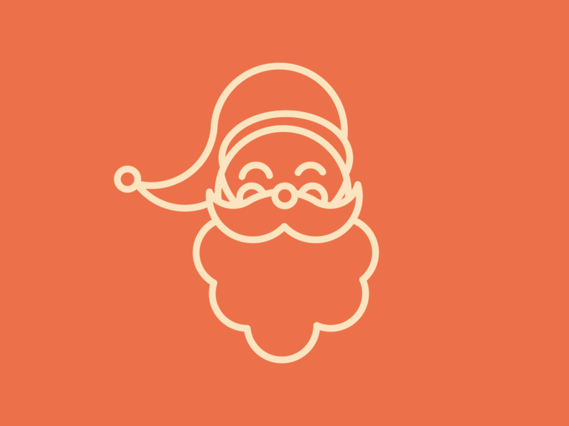 Ho Ho Ho ? outline illustration iconset geometric christmas outline icon santa
