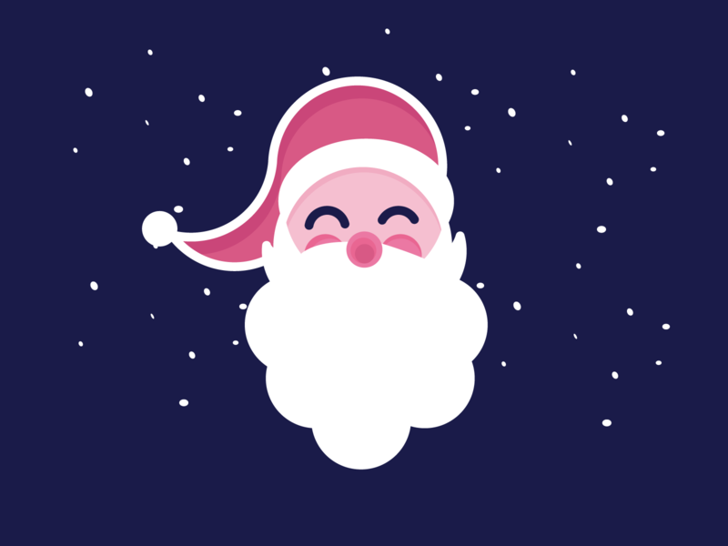 Smiling Santa illustration icon christmas santa