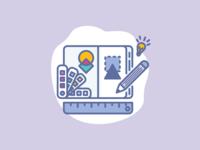 Illu idea pantone branding guideline identity drawing pen illustrator designer icons illustration