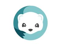 Hermineapp Logo brand identity app logo ermine hermine
