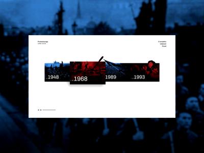 Protest Songs animation the czech republic czechia web design interface design web