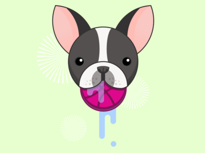 Dribbble Dog illustration dog