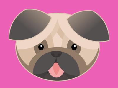 Pug pug illustration dog