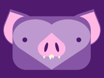Square Bat illustration bat
