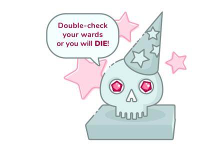 Helpful Demilich wizard skull illustration demilich