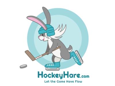 Hockeyhare illustration rabbit logo