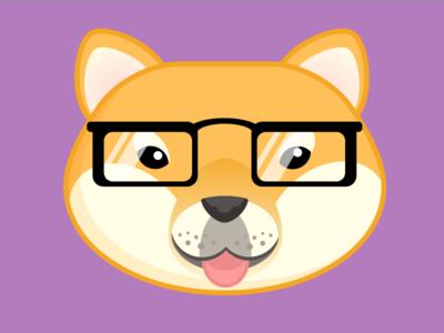 Shiba illustration dog shiba