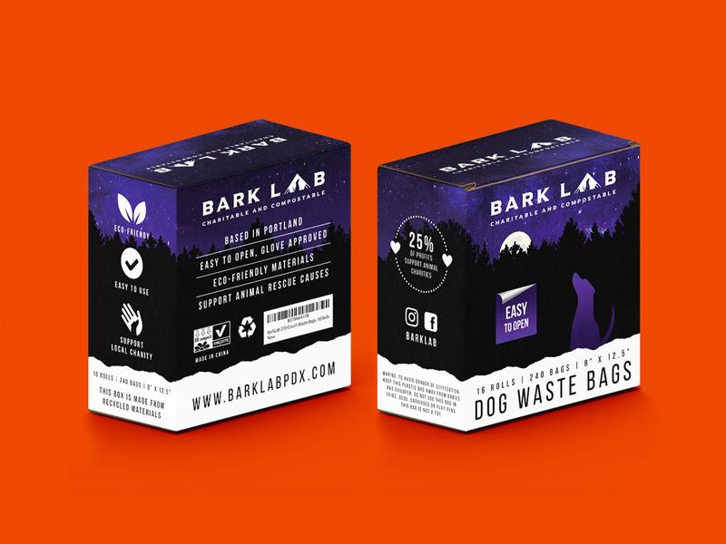 Bark Lab brand box vector grid pet dog color graphic design graphic design packaging design branding logo packaging