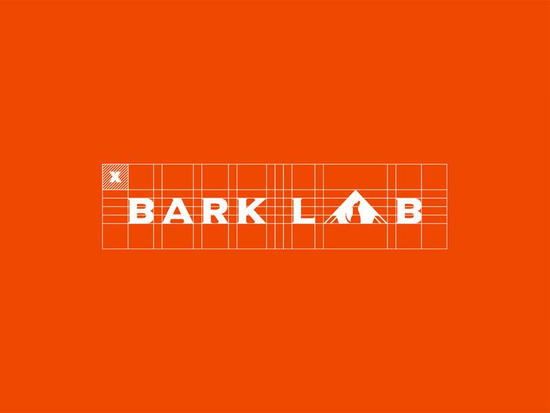 Bark Lab packaging design pet dog box grid vector logo color branding brand graphic graphic design design