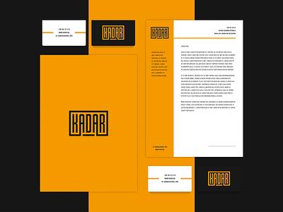 Kadar grid color vector stationary branding logo brand graphic graphic design design