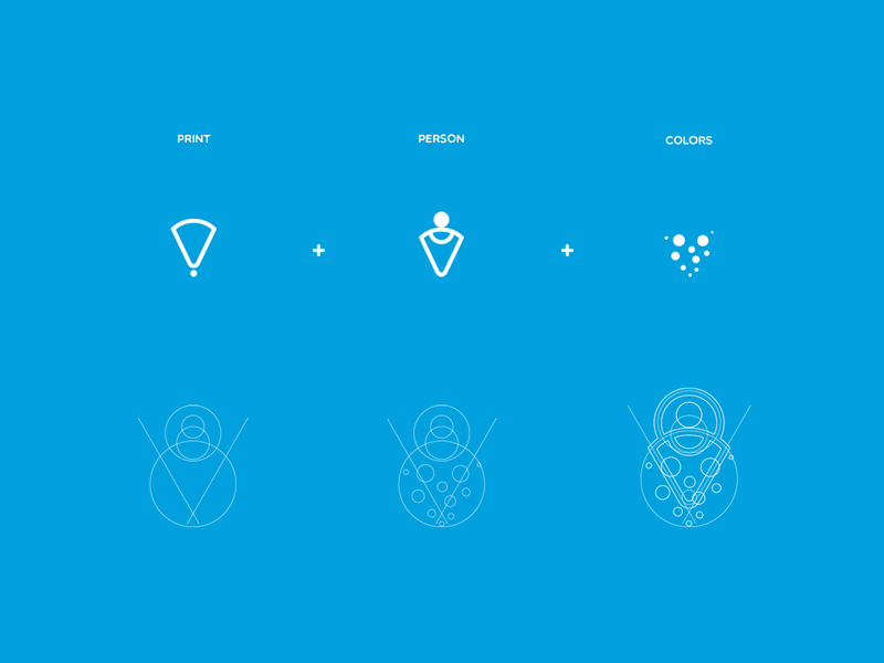 3Dfyme 3dprint 3d technology grid color illustration logo graphic design branding brand graphic design