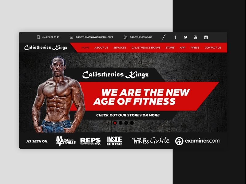 Calisthenics Kingz Website color landing page web design training website design website brand graphic design graphic design