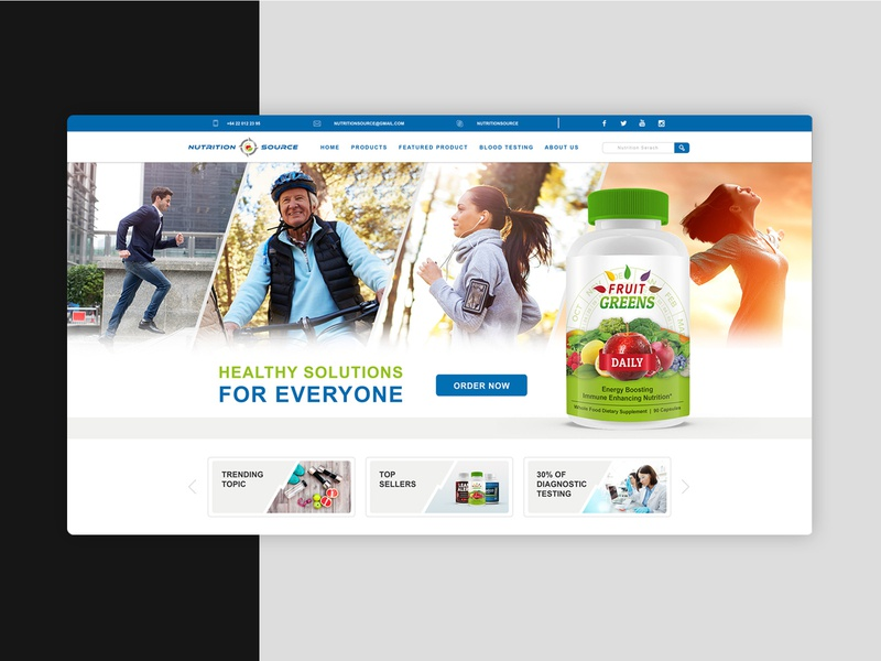 Nutrition Source Website sport nutrition landing page website design web design website branding graphic design graphic design