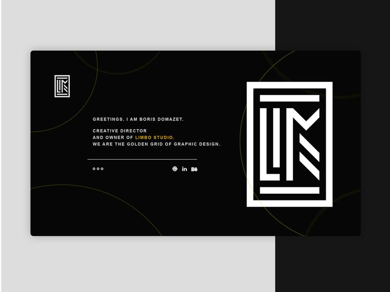 Limbo Studio website design webdesign landing page website ux ui logo brand graphic design graphic design