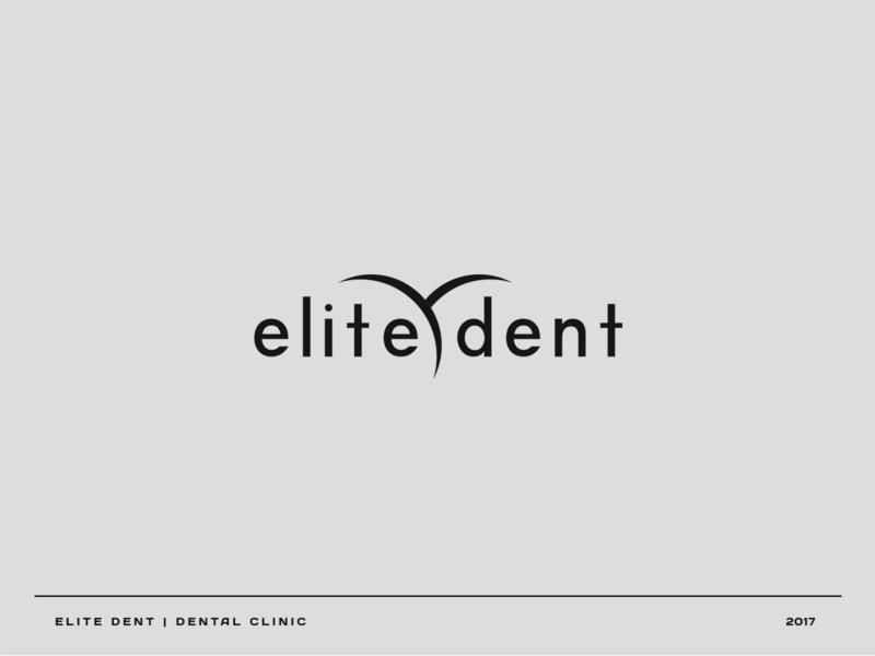 Elite Dent care teeth dental care dental vector logo branding brand graphic design graphic design