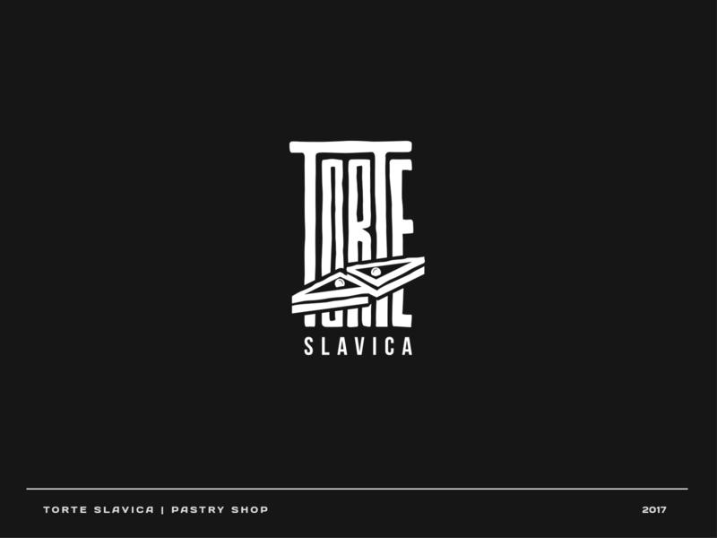 Torte Slavica sweet cake pastry vector stationary color logo branding brand graphic design graphic design