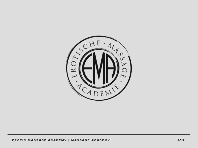 Erotic Massage Academy academy massage vector logo branding brand graphic design graphic design