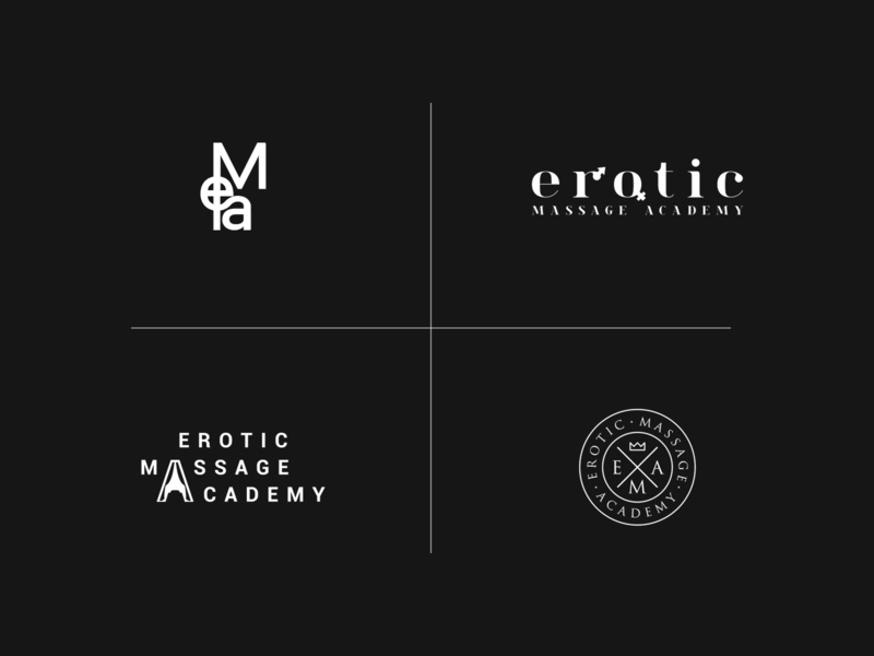 Erotic Massage Academy massage vector logo branding brand graphic design design graphic