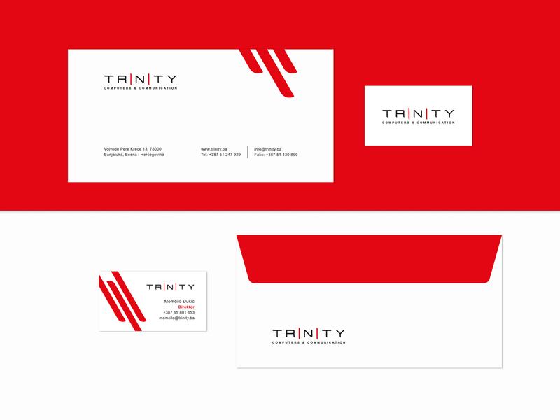 Trinity technology stationary grid vector color logo branding brand graphic design graphic design