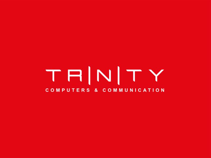 Trinity technology grid vector logo color branding brand graphic design graphic design