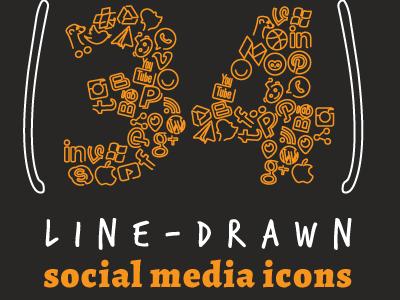 Line Drawn Social Media