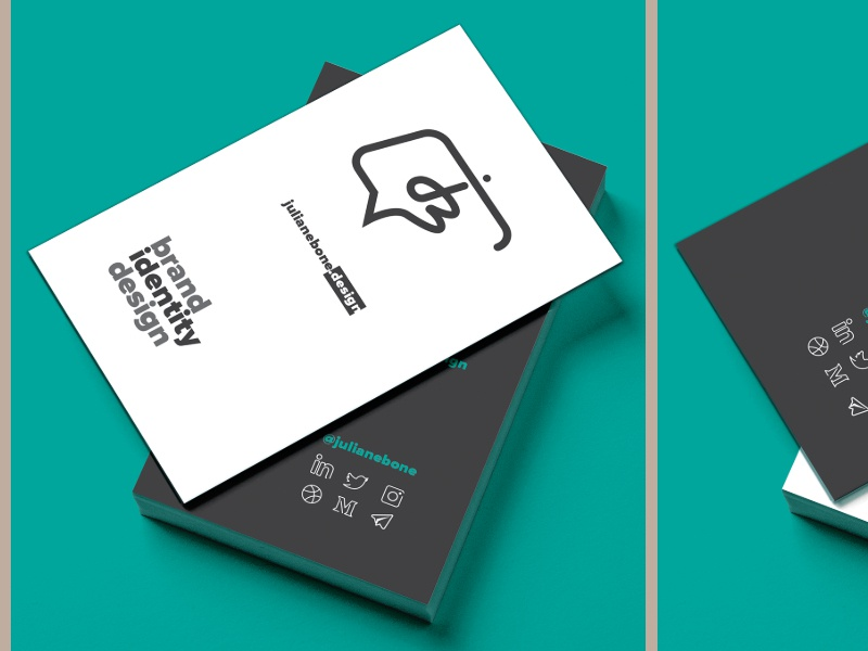 Business Card Design minimal identity illustration logo business card design design business card