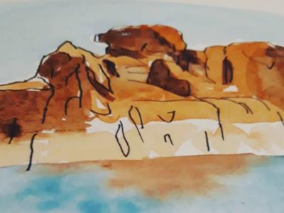 Camel Rock Watercolor