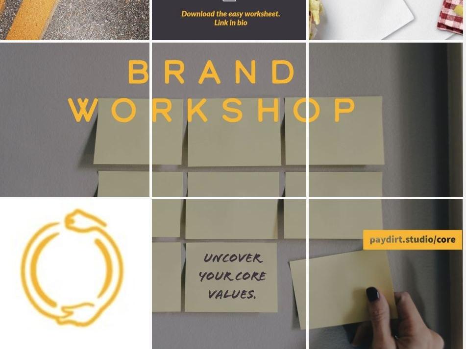 Instagram Grid identity logo brand grid instagram