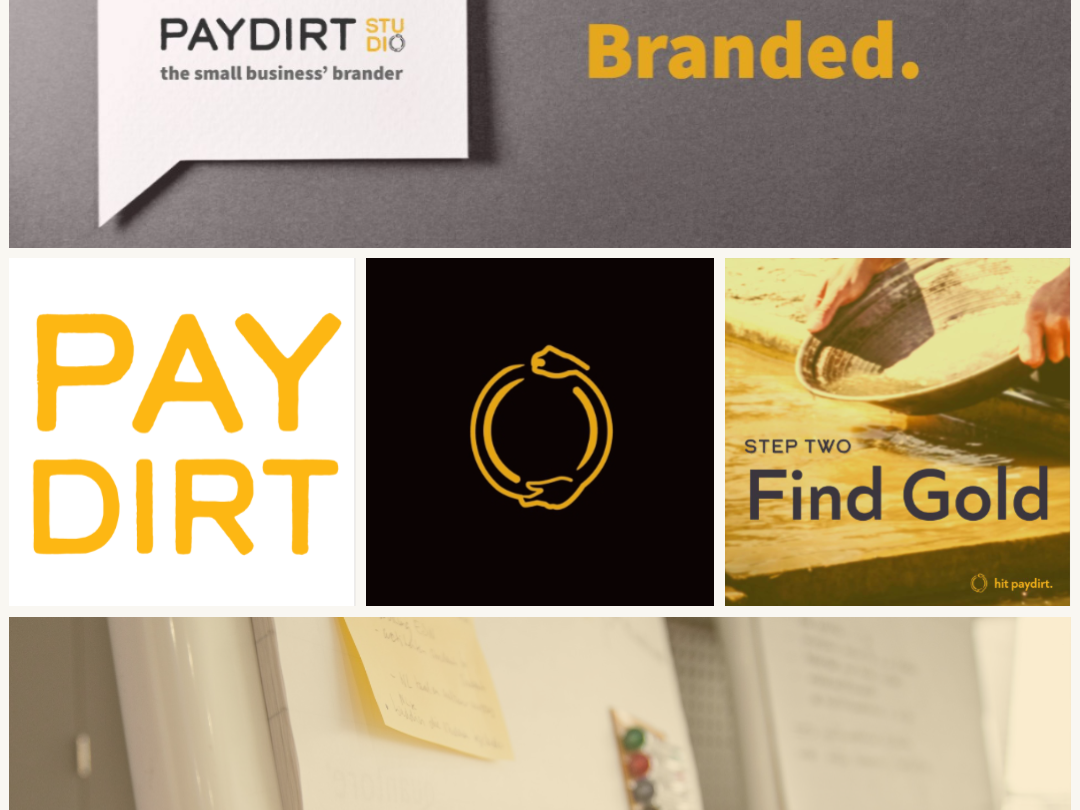Paydirt Aesthetic discovery gold paydirt identity styleguide moodboard