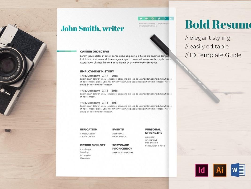 Bold Resume resume template bold