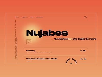 Layout #4 / Nujabes - Departure musician music player landing page flat album music nujabes animation ux ui vector web color design