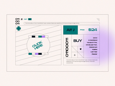 Layout #5 / Relaxer buy music album relaxer alt j burger menu cart animation ux ui web vector color design