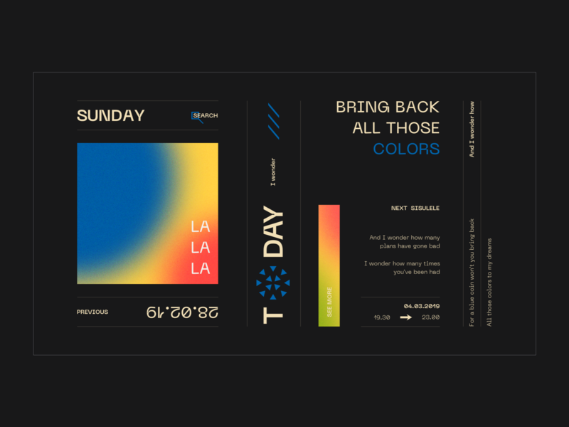 Layout #7 / Sunday noise gradient typography poster ui web color design