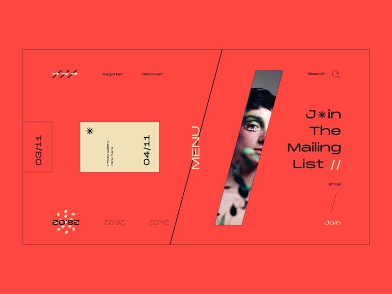Layout #8 / Piece of Photo Project layout project photoshoot burger menu menu typography poster ui web color design