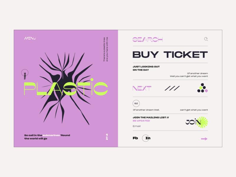 Layout #11 / Plastic Trees layout landing typography ux illustration vector ui web color design