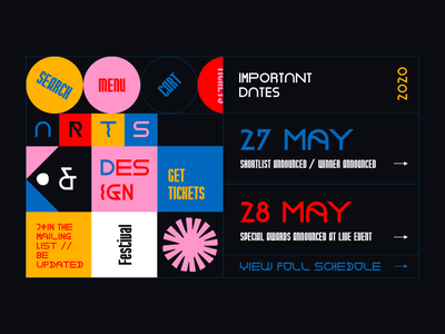 Layout #13 / festival typography poster ux vector ui web color design