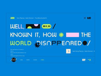 Layout # 16 vector lyrics music typography poster animation illustration web ui color design