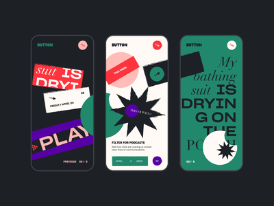 UI Concept for Mobile App screen layout icon mobile typography poster vector ui color design