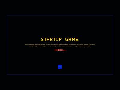 Startup Game startup digital retro snake storytelling presentation gamification animation ux web vector ui color design