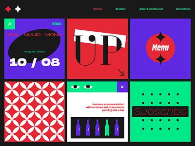 Up layout poster illustration web color vector ui design